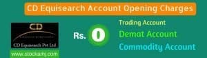 CD Equisearch Pvt Ltd Account Opening Charges