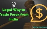 Legal Way to Trade Forex from India