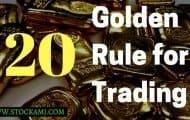 20 Golden Rules for Online Trading