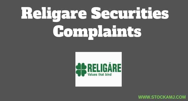 Religare Securities Complaints by Active Customers in NSE, BSE