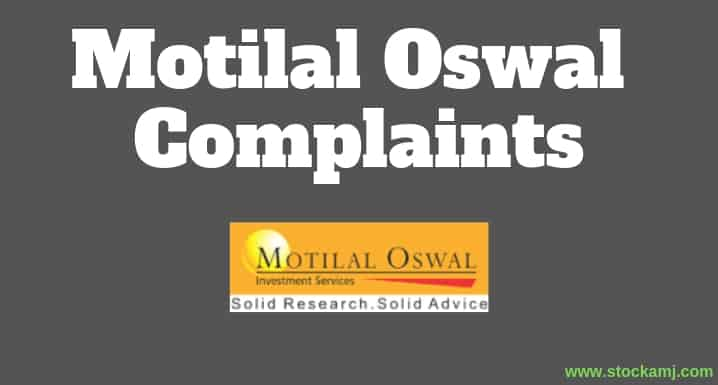 Complaints Against Motilal Oswal