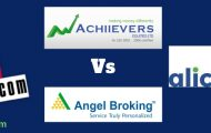 Angel Broking 5paisa Alice Blue Online Achiievers Equities Equities discount full service stock broker compare