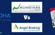 Angel Broking Zerodha 5paisa Achiievers Equities discount full service stock broker compare