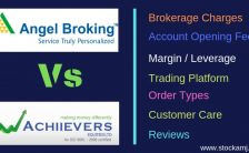 Angel Broking and Achiievers Equities full service broker and discount stock broker side-by-side online compare