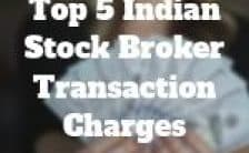 Indian Share Market Broker Transaction Charges