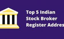 Top 5 Indian Stock Broker Register Address and corporate address