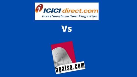 ICICI Direct vs 5paisa.com share broker comparison